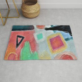 Untitled Abstract Digital Painting Rug