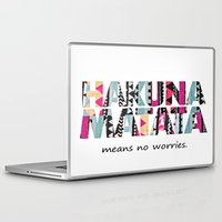 hakuna Laptop & iPad Skins featuring Hakuna Matata by Amy Copp