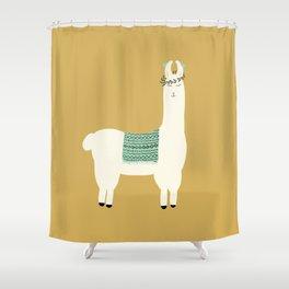 Llama days Shower Curtain
