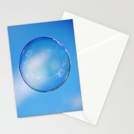 Single Floating Bubble Stationery Cards
