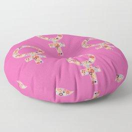 Fearless Female Pink Floor Pillow