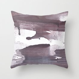 Gray claret abstract Throw Pillow