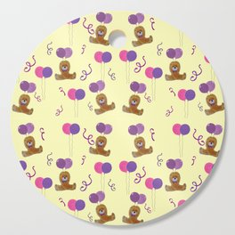 Teddy for girls with balloons Cutting Board