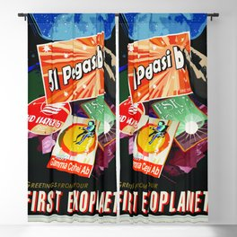 51 Pegasus b - NASA Space Travel Poster (Alt) Blackout Curtain