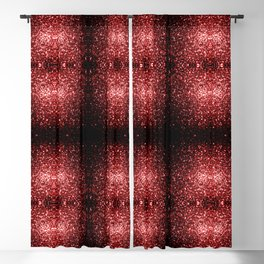 Beautiful Glamour Red Glitter sparkles Blackout Curtain