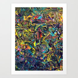 Waves of Colour Art Print