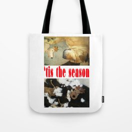 """"""" 'tis the season """" from the photo series""""My dog, PLaY-DoH"""" Tote Bag"""
