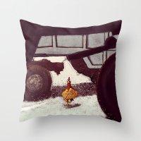 chicken Throw Pillows featuring Chicken by Javio
