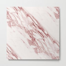Marble Rosa Pallido, Pale Pink Metal Print