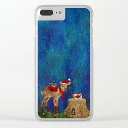 Christmas Tea Party Clear iPhone Case