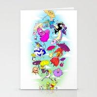 umbrella Stationery Cards featuring Umbrella by Natalie Nardozza