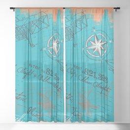Retro flying Sheer Curtain