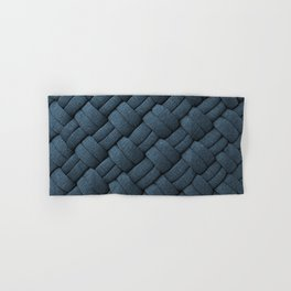 Expressions Blue Chunky Weave  Hand & Bath Towel
