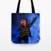 u2 Tote Bags featuring U2 / Bono / Baby Light My Way by JR van Kampen