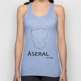 map of åseral Unisex Tank Top