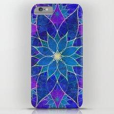 Lotus 2 - blue and purple Slim Case iPhone 6s Plus