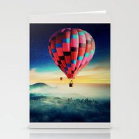 hot air balloons Stationery Cards featuring Hot Air Balloons by EclipseLio