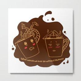 Addicted Coffee Metal Print
