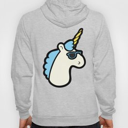Unicorns are Cool Pattern - Blue Hoody