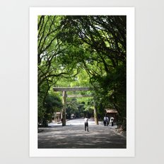 Atsuta Shrine Torii Gate Art Print