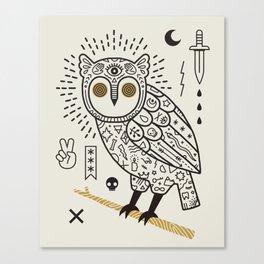 Hypno Owl Canvas Print