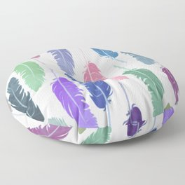 Colorful Feathers Floor Pillow