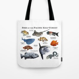 Fish of the Pacific Kelp Forest Tote Bag