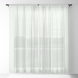 Behr Unwind (Soft Pastel Green) GR-W05 Solid Color Sheer Curtain