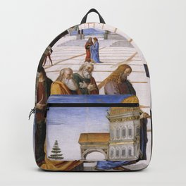 The Delivery of the Keys Painting by Perugino Sistine Chapel Backpack