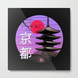 Kyoto Wave Metal Print