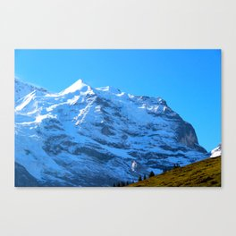 Ascending to New Heights – Snow-Capped Alps Canvas Print
