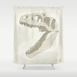 Allosaurus skull Shower Curtain