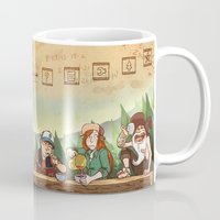 gravity falls Mugs featuring Gravity Falls Tea Party by rampaigehalsey