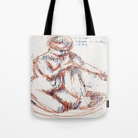 degas Tote Bags featuring Some Degas by PerClaudia