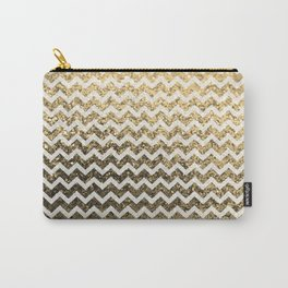 Glitter Sparkly Bling Chevron Pattern (gold) Carry-All Pouch
