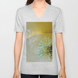 Yellow palm Unisex V-Neck