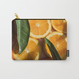 Orange Fruit Pattern Photography Carry-All Pouch