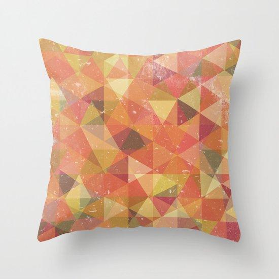 Triangle Pattern III Throw Pillow