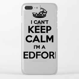 I cant keep calm I am a BEDFORD Clear iPhone Case