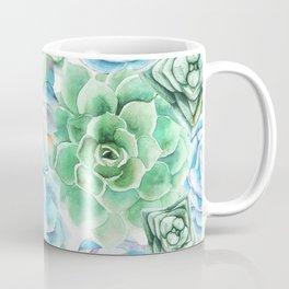 Mint Green Succulents Coffee Mug