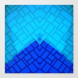 Blue Brick Two Tone Pattern Canvas Print