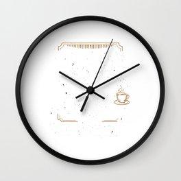 Education Coffee Roasting Roaster Gift Coffee Roasting T-Shirt Wall Clock