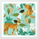 Cheetah Jungle #illustration #pattern by 83oranges