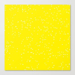 Yellow and White Canvas Print