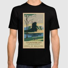 Thunder Bluff Classic Rail Poster Mens Fitted Tee Black MEDIUM
