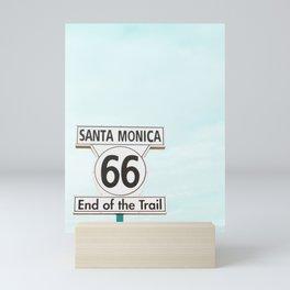 Travel photography Santa Monica XV 66 End of the Trail Mini Art Print