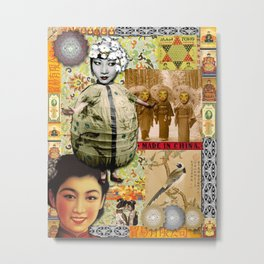 Geisha Love Metal Print