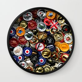 Beer Bottletops Wall Clock