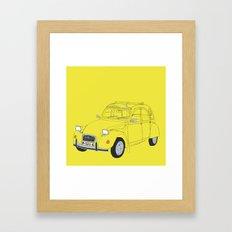 Citroën 2CV Framed Art Print