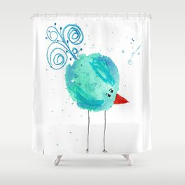 Deryn-Zuliebird Shower Curtain